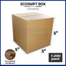 1 200 5x5x5 Ecoswift Cardboard Packing Mailing Shipping Corrugated Box Cartons