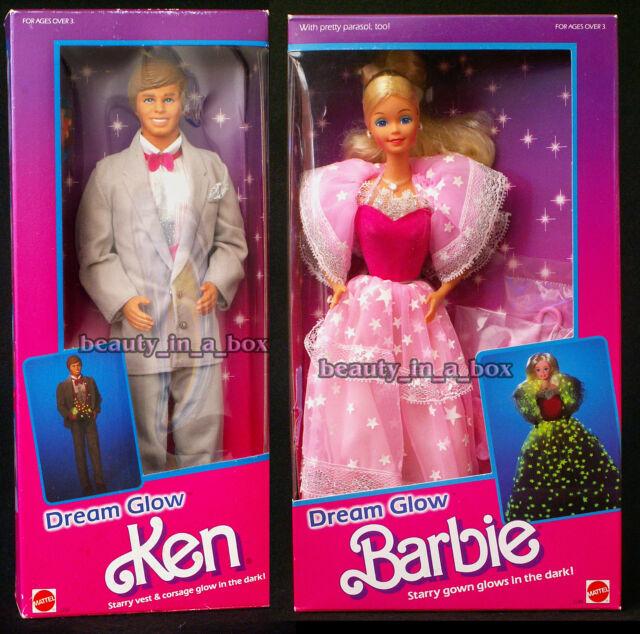 Dream Glow Barbie Doll & Ken Doll Vintage 1985 Classic NRFB