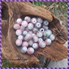 Perles oeil de chat 8mm  X50pcs nuances vert et rose