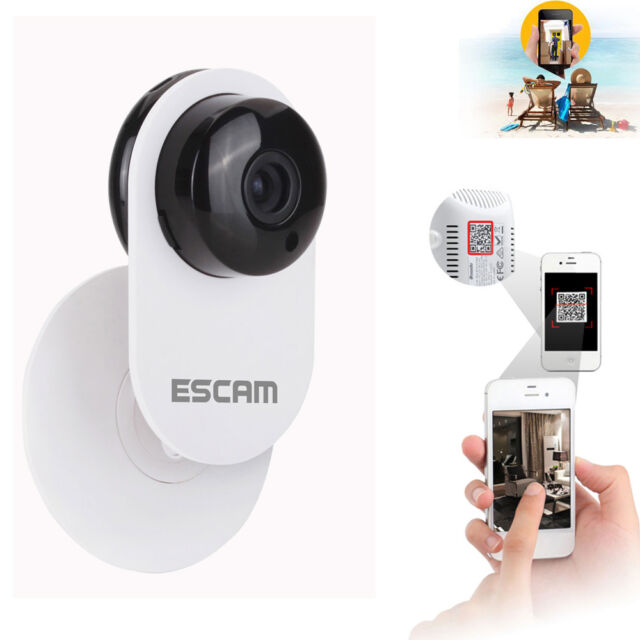 Escam 720P HD H.264 CCTV Smart Camera IR Wireless Network IP Webcam WiFi ONVIF
