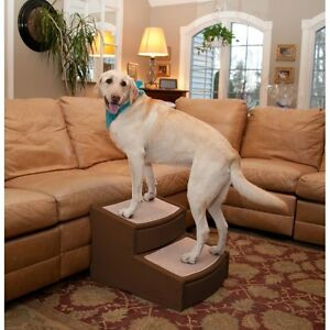Pet-Gear-Easy-Steps-II-Extra-Wide-Large-Dog-2-Step-Stair-Chocolate-up-to-200-lbs