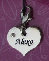Cc Alexa Heart Name Charm For Bracelet Cherish Charms Lobster Closure Jewelry