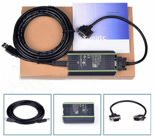 PLC Cable for Siemens S7 200//300//400 Adapter  6ES7 972-0CB20-0XA0 USB-MPI PC US