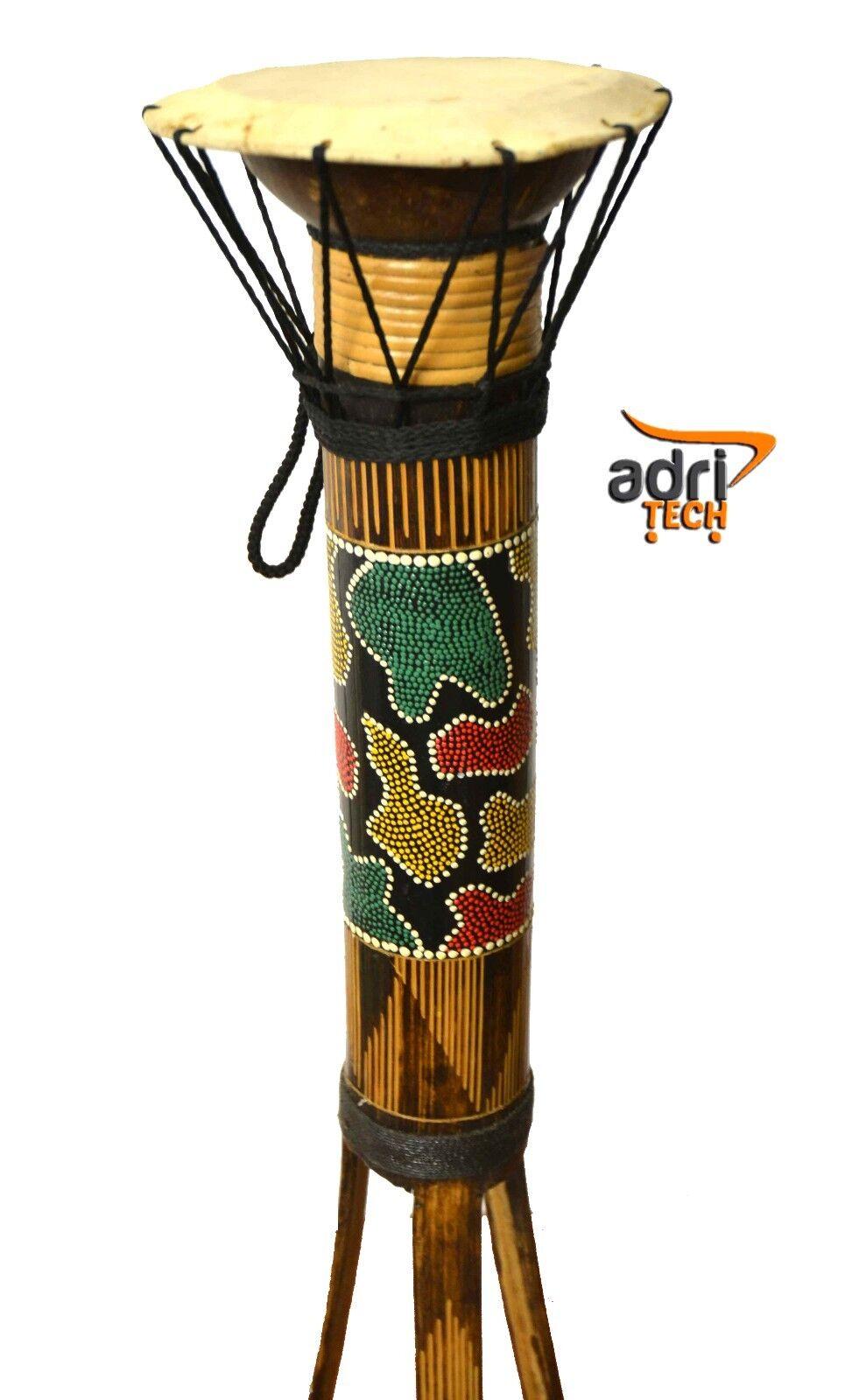 TAMBURO AFRICANO 30 CM DJEMBE DRUM AFRICAN STYLE DESIGN STRUMENTO MUSICALE