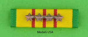 VIETNAM-SERVICE-MEDAL-RIBBON-BAR-with-4-Bronze-Campaign-Battle-Stars