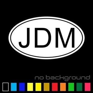 Jdm Oval Sticker Vinyl Decal Euro Drift Racing Car Japan Japanese