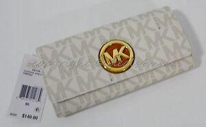 f0de4a6d3996 NWT MICHAEL Michael Kors Signature MK PVC Fulton Carryall Wallet in ...