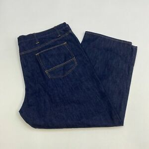 NWT-Foundry-Denim-Jeans-Mens-50X30-Blue-Relaxed-Straight-Leg-Medium-Wash-Zip-Fly