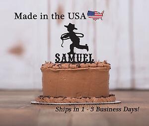 Details about Cowboy Cake Topper, Boy's Birthday, Rodeo Theme, Western Cake Keepsake - LT1117