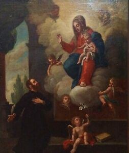 San-Ignacio-de-loyola-and-the-virgin-mary-oil-on-canvas-spain-century-xviii