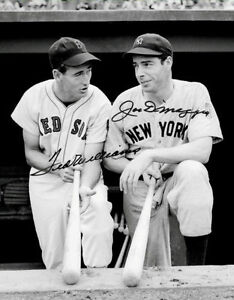 92790f335bd Image is loading Ted-Williams-Joe-Dimaggio-Autographed-Repro-Photo-11X14-