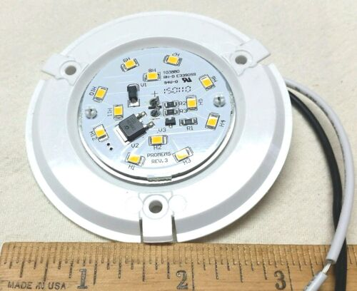 """Qty 3 Surface Mount RV 12V 3W Light Fixture 3.25/"""" with 12 LEDs No Lens Covers"""
