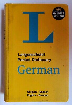 NEW - Langenscheidt Pocket Dictionary German