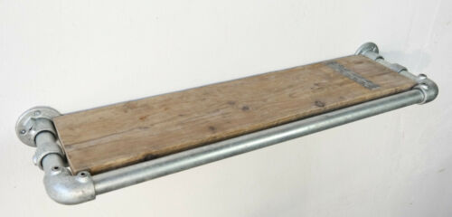 Wandregal Regal Industrie Stil Massiv Modern Neu Gerüst Holz Loft