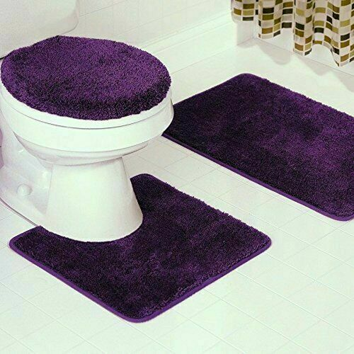 Bath Mat Contour Lid Cover Rug Carpet