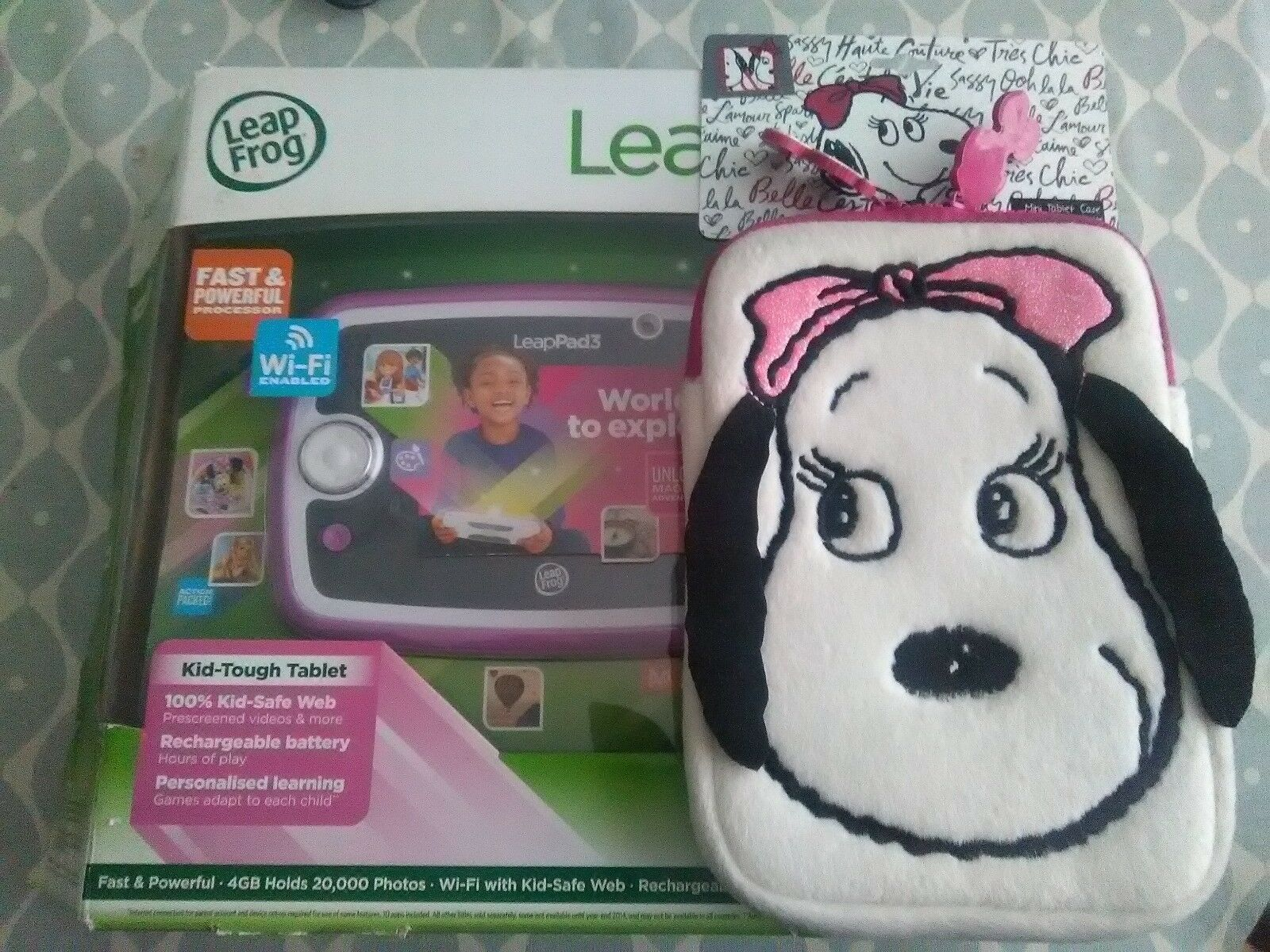 Leappad 3 by Leapfrog - Pink Tablet - Boxed with accessories