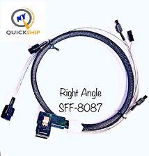 1.0M//3ft 2in Genuine 3WARE MultiLane SFF8087 to 4x SATA Breakout Cable