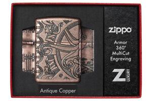 ZIPPO-Nautical-Scene-Armor-Case-Feuerzeug-Multicut-Tiefengravur-60004896
