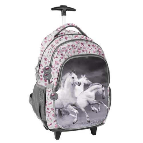mit Pferd PASO mehrfarbig licht Rucksack auf Rädern Schulrucksack Schultasche