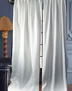 Image Is Loading 100 White Organic Linen Panels Curtains Lined Each