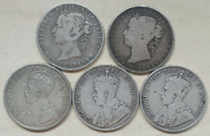 Newfoundland-5-Various-Dates-Fifty-Cents-1896-1919