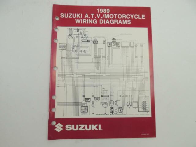 Vintage 1989 Suzuki ATV Motorcycle Wiring Diagrams Manual ...