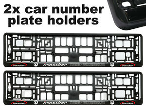 2x-Doming-CAR-Number-Plate-Surround-Holder-Frames-BEST-FIT-IRMSCHER-for-VAUXHALL