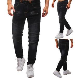 NEW-Men-039-s-Casual-Autumn-Denim-Cotton-Patchwork-Hip-Hop-Work-Trousers-Jeans-Pants