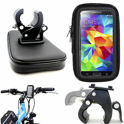 Motorcycle Bicycle 360° Mount Holder Cradle Waterproof Bag Pouch Case For LG