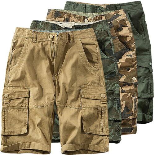 Men/'s Mimetico Pantaloncini Casual Sciolto Multitasca UTENSILI Corto Pantaloni con tasconi