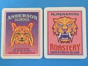 2-Bier-Untersetzer-mcmenamins-Anderson-Schule-roastery-bothell-Washington