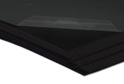 Kunststoffplatte Hart PVC Platte Kunststoff 2000 x 1000 x 2 mm schwarz