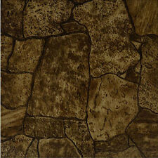 Rustic Stone Vinyl Floor Tiles 20 Pcs Self-Adhesive Flooring -Actual 12'' x 12''
