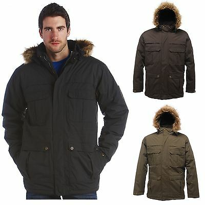 Men's Regatta Insulated Waterproof Landscape Hooded Parka Jacket Winter Coat