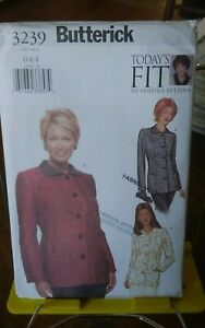 Oop-Butterick-Todays-Fit-3239-misses-jacket-lined-princess-seams-sz-38-43-NEW