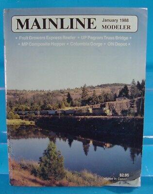 MAINLINE MODELER MAGAZINE OCTOBER 1988 N/&W RS36,SOO SD40-2,DL/&W 4-8-2,C/&O GON