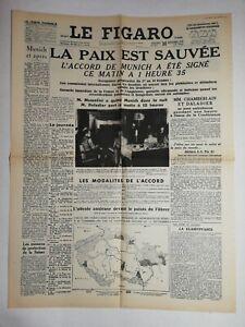 N809-La-Une-Du-Journal-Le-Figaro-30-septembre-1938-la-paix-est-sauvee
