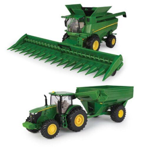 68212 Combine w//Head,Tractor w//Grain Cart 1//32 NEW John Deere Harvesting Set