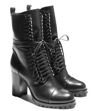 CASADEI $1350 black city rock chain boots current season 38.5