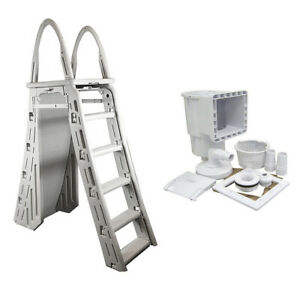 Confer-A-Frame-Swimming-Pool-Ladder-amp-Hayward-Pool-Skimmer