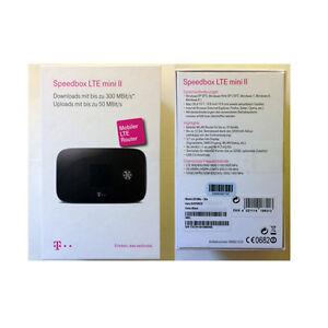Telekom-Speedbox-LTE-mini-II-WLAN-MiFi-Hotspot-3-000-mAh-Akku-2xTS9-Anschl-NEU