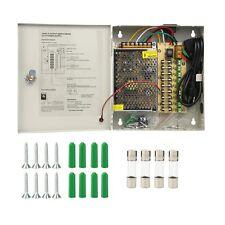 9 Channel Ports CCTV Security Camera Power Supply Box 12V DC 5A Surveillance 9CH