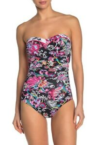 Tommy-Bahama-Floral-Print-One-Piece-Swimsuit-TSW82420P-Size-10