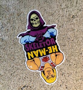 "He-Man Skeletor MOTU Masters Cut Vinyl 4"" Sticker Slap Decal Indoor Outdoor"