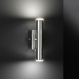Honsel-Led-Lampara-Pared-Lagon-2-Luces-Cromado-Interruptor-Pasillo-Escalera