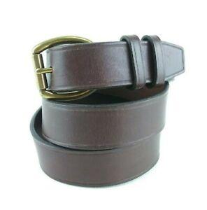 Ralph-Lauren-Belt-Large-Brown-Italian-Leather-Oval-Solid-Brass-Roller-Buckle