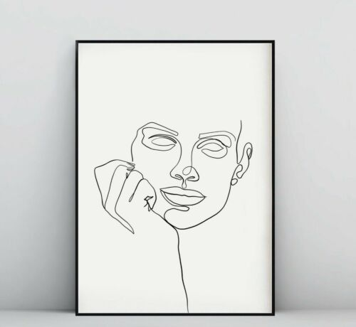 A3 A2 A1 Sizes Abstract  Minimalist Line Art Print