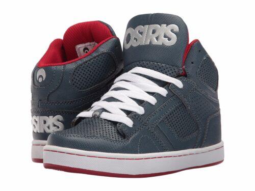 Enfants Garçons Osiris NYC 83 Skateboarding Shoes Neuf dans sa boîte Bleu Rouge Argent