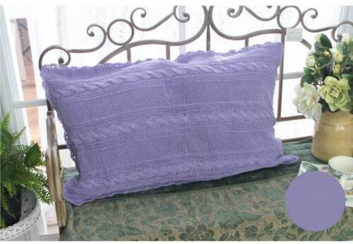 Pretty Soft Purple Hand Crochet Zipper Cotton Pillowcase