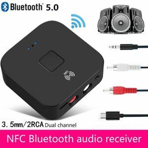 NFC-Bluetooth-5-0-Empfaenger-3-5mm-AUX-Cinch-Buchse-Hifi-Wireless-Adapter-Audio